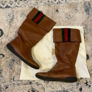 KIDS GUCCI LEATHER BOOT